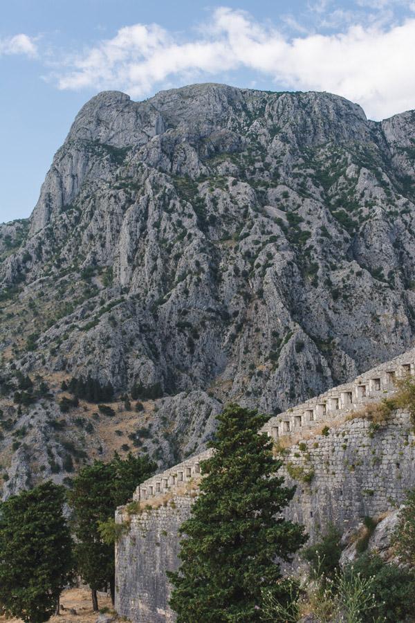 Breathtaking mountains in Kotor Montenegro