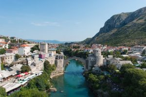 Famous Stari Most in Mostar Bosnia and Herzegovina