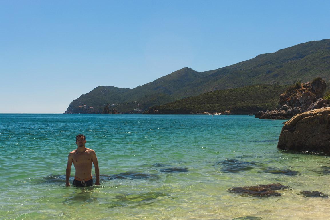 Paradise Beach in Portinho da Arrabida Portugal