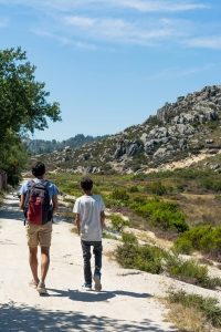Cousins hiking at Alvao National Park in Portugal