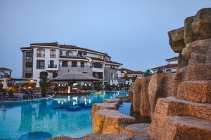 Pool of the resort in Aheloy Bulgaria