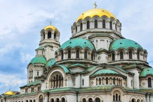 The beautiful Alexander Nevski Cathedral in Sofia Bulgaria