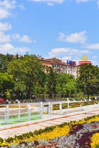 Garden near the NDK in Sofia Bulgaria