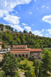 View to the Martyrs Church in Veliko Tarnovo Bulgaria