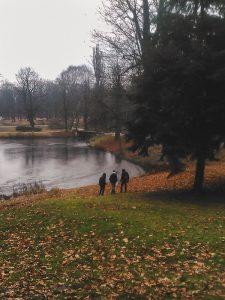 Autumn in Lazienki Park Warsaw Poland