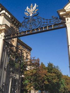 Entry to the University of Warsaw Main Campus