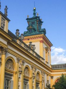 Details of the Wilanow Palace in Warsaw Poland