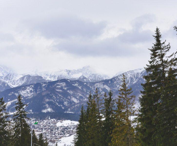 Magic winter scene to the mountains from the Gubalowka in Zakopane Poland