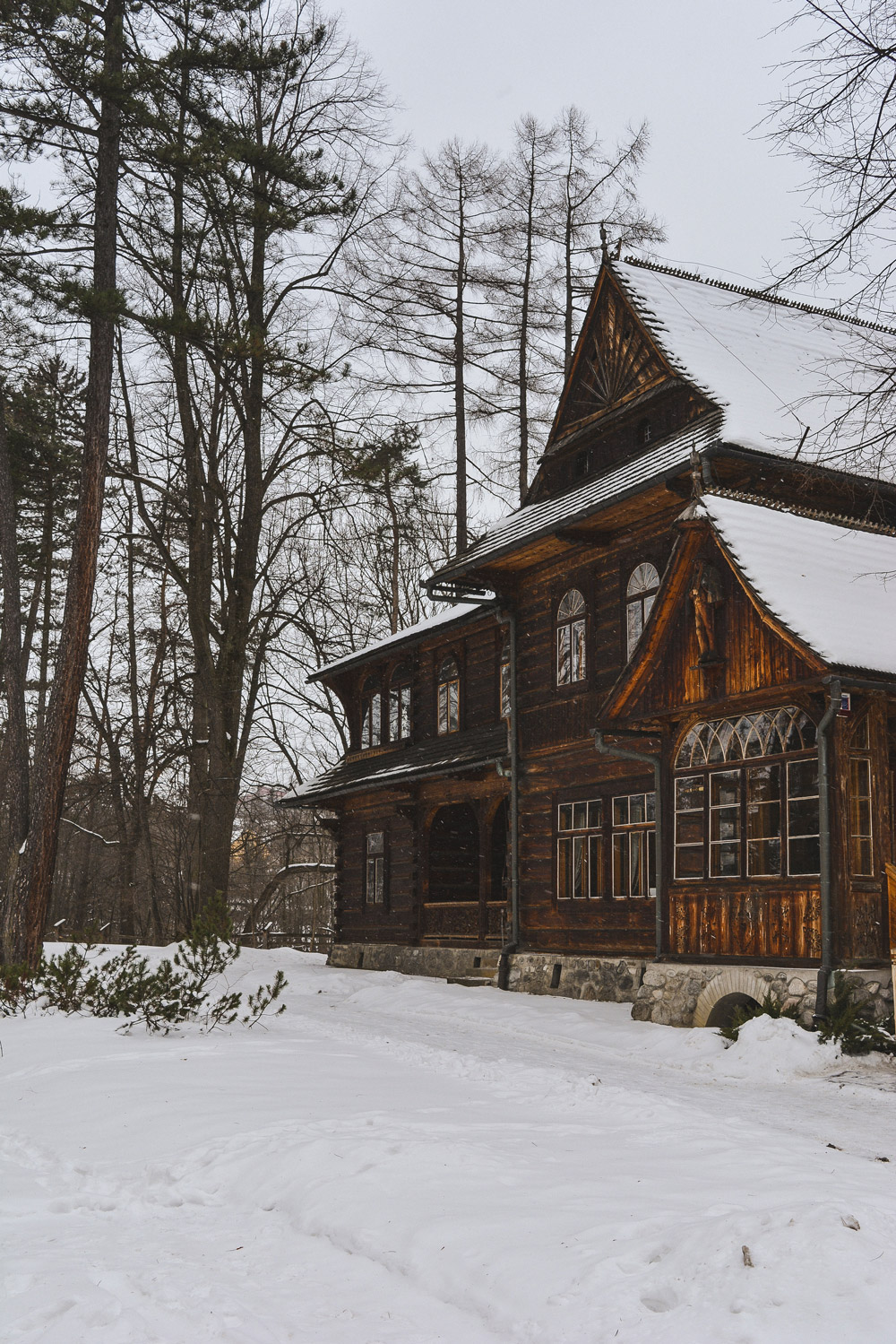 The Museum of Zakopane style is an architectural gem and specially beautiful covered in snow