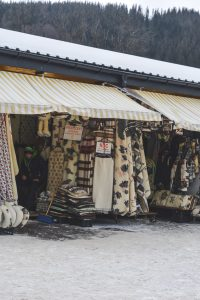 The Zakopane market is filled with souvenirs that will keep you warm