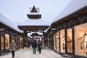 The Zakopane mall is unlike any other you will see and even prettier in the Winter