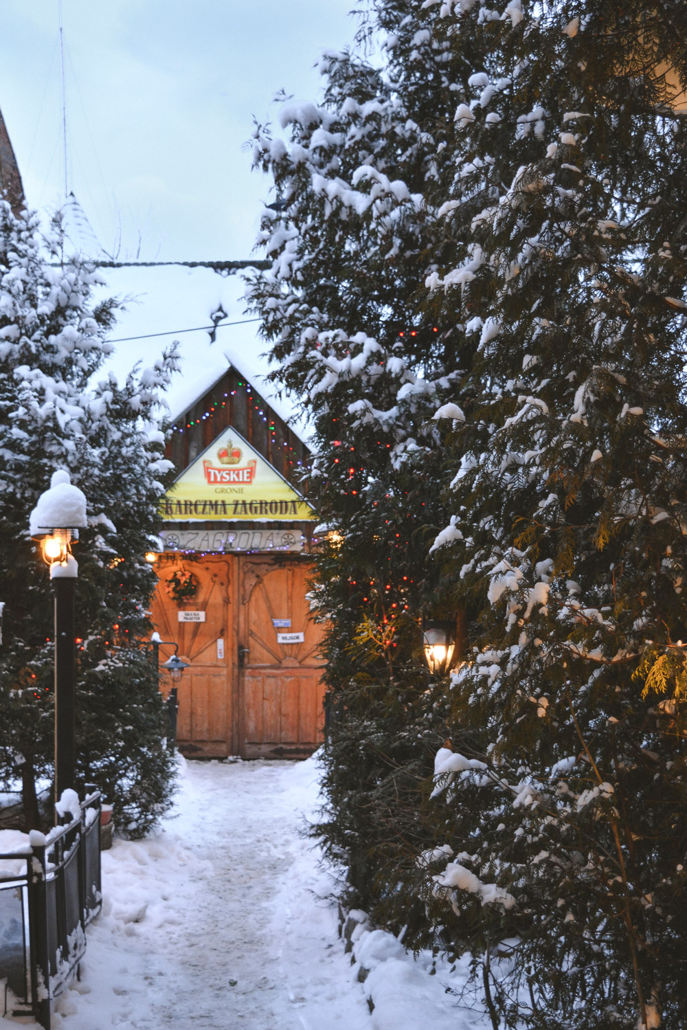Quintessential Winter scene in Zakopane's fairytale town
