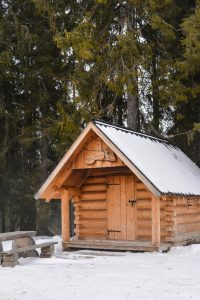 A charming cabin at the top of the Tatry mountains in Poland