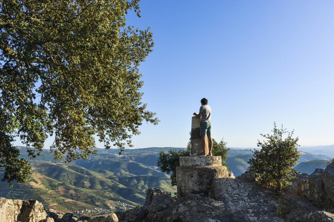 Rui at the Viewpoint São Leonardo da Galafura at the Douro region in the North of Portugal