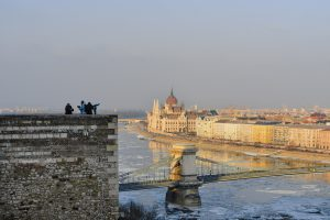 View from the Buda Castle to the Pest side in Hungary