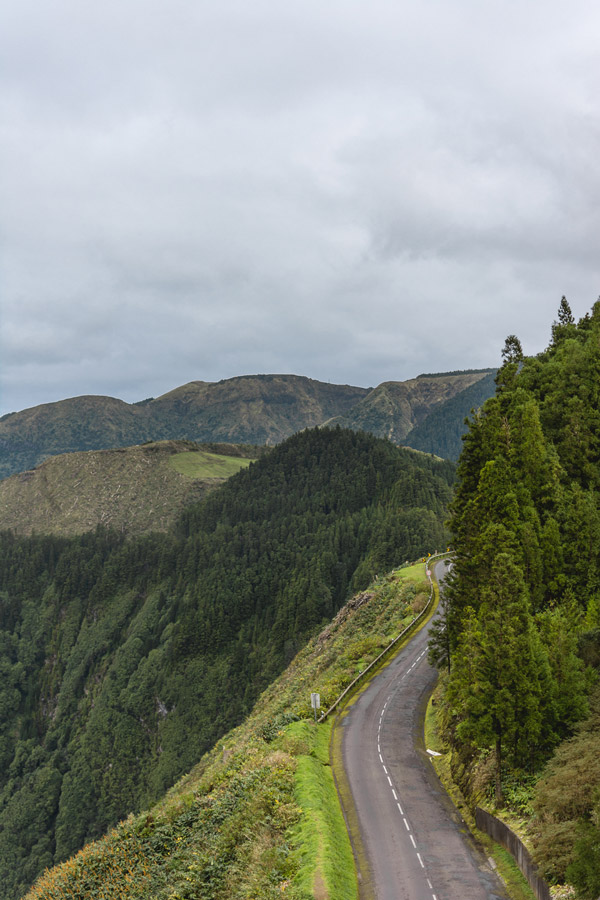 The roads in São Miguel Azores are winding and green the perfect destination for Winter travel inspiration