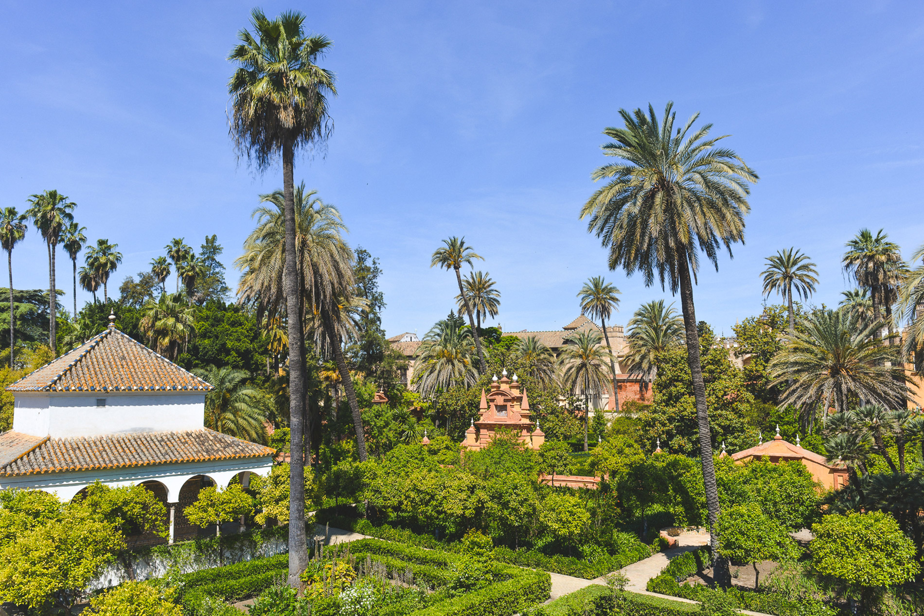 The Garden of the Alcazar a must see when you visit Seville Spain