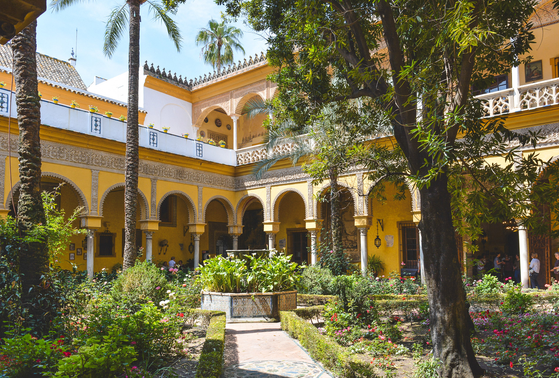 The Palacio de las Duenas is one of the most beautiful Seville attractions