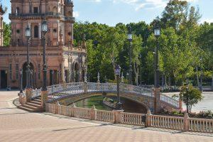 The magical Plaza de España in Seville Spain