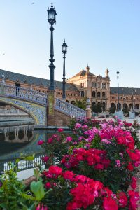 The magical Plaza de España in Seville Spain