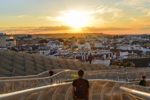 Stunning sunset at the Metropol Parasol one of the many Seville attractions you can't miss