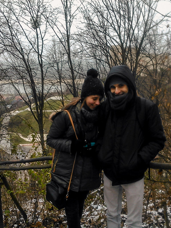 Us unable to keep a straight face in Kazimierz Dolny Poland