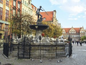 Statue in Gdansk's Old Town Square