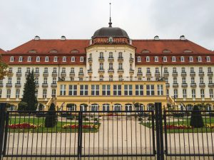The Magnificent Grand Hotel by the seaside in Sopot Poland