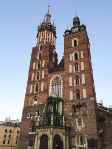 Staggering St. Mary's Basilica in Krakow Poland