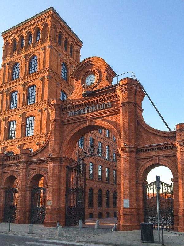 The Manufaktura Building in Lodz Poland