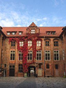 Autumn in full bloom at the Town Hall Building in Torun Poland