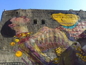 Detailed Street Art Mural in Lodz Poland