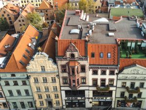 View to UNESCO World Heritage Site: Torun Old Town in Poland