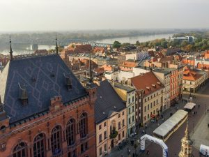 River View to UNESCO World Heritage Site: Torun Old Town in Poland