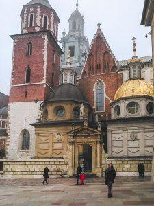 Array of Roofs in Wawel Castle in Krakow Poland