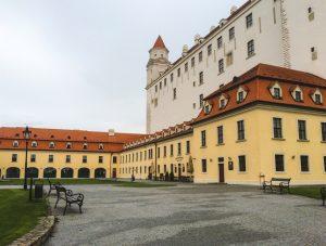 Bratislava Castle on a grey winter day