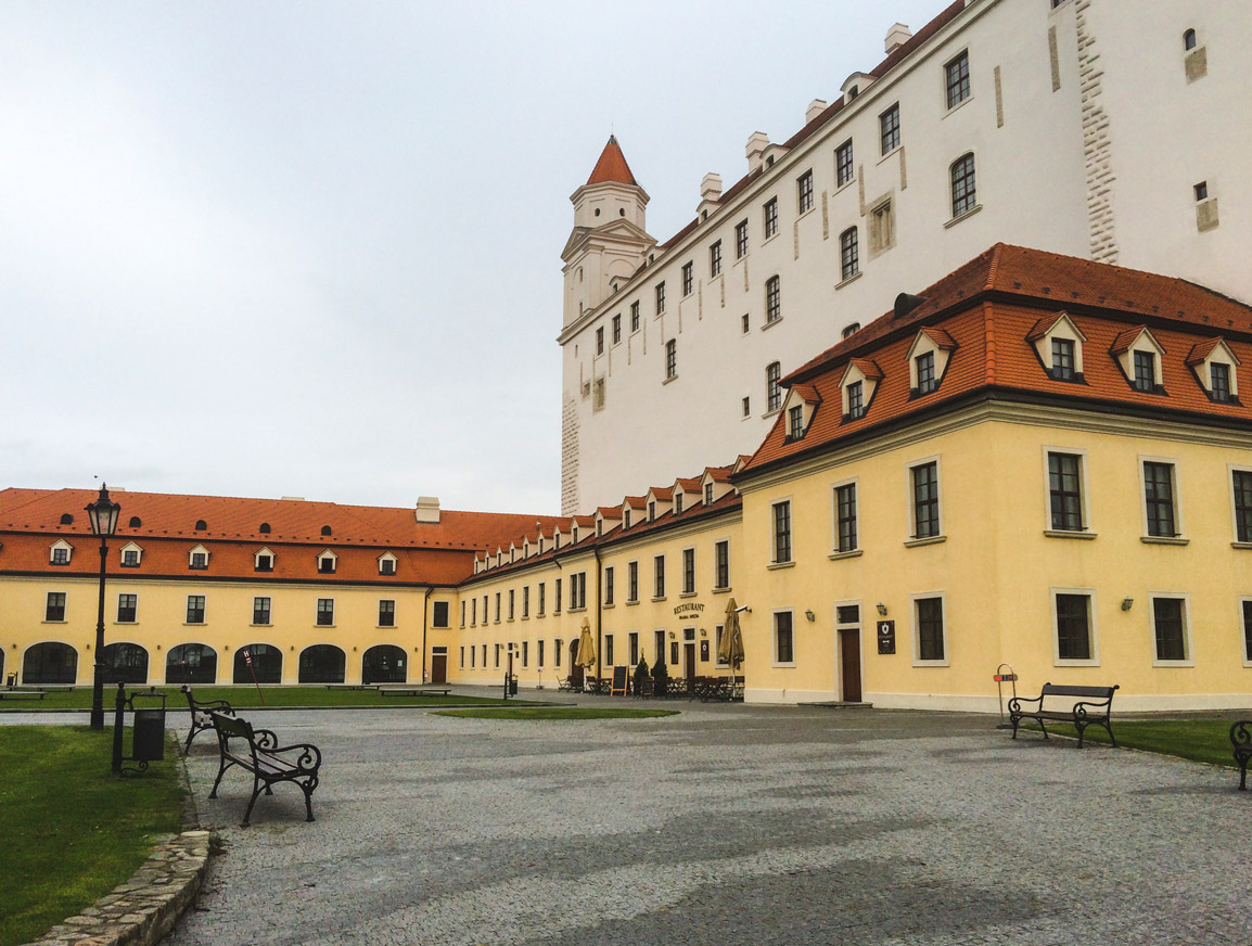 Bratislava Castle on a grey winter day