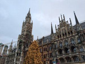 Christmas decorations in Marienplatz Munich