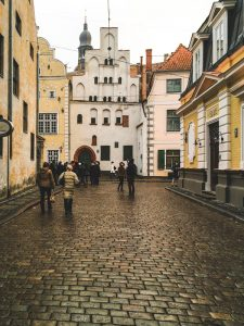 Historic Houses in Riga's Old Town in Latvia