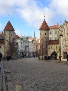 Old Town Walls in beautiful Tallinn Estonia