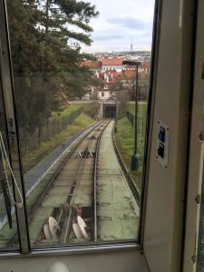 Prague funicular to the Petrin Park and Tower