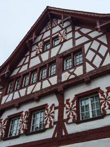 Candy-like house in charming Stein am Rhein Switzerland