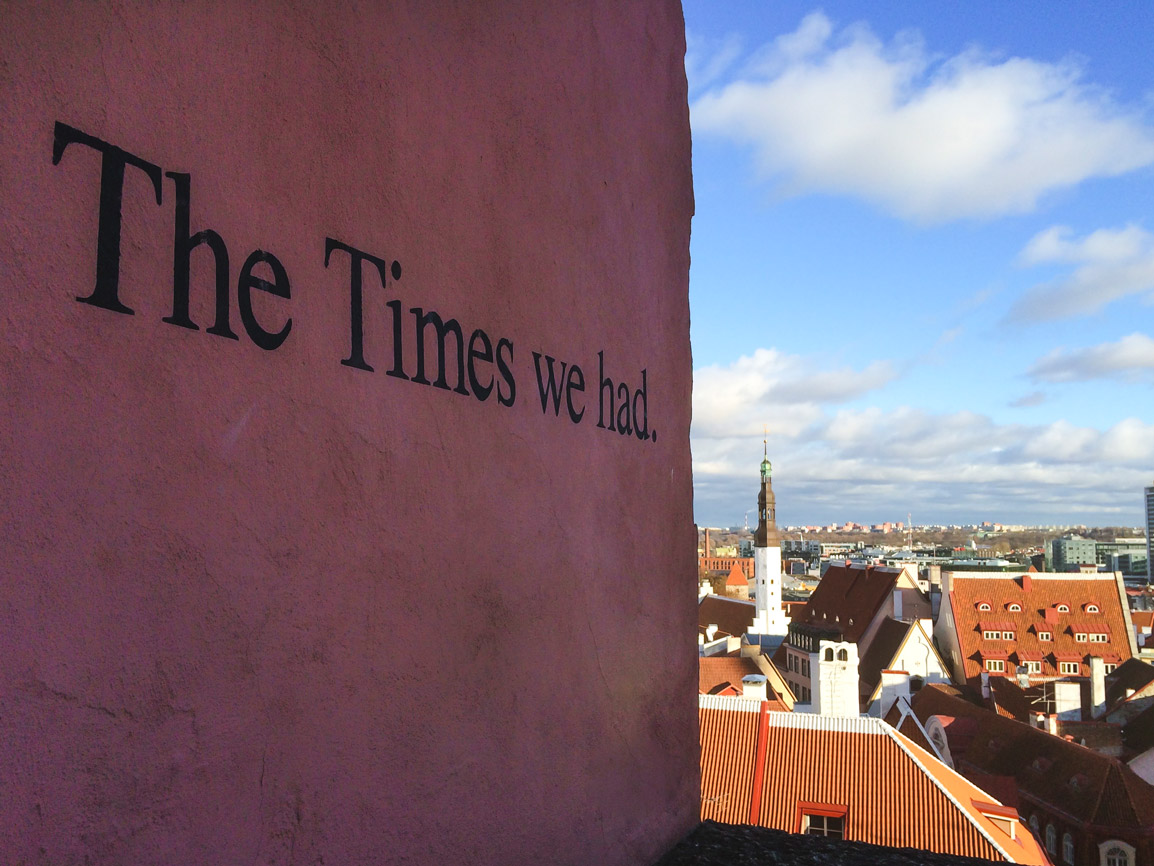 The times we had mural in a viewpoint in Tallinn
