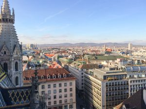 View from the St Stephen's Cathedral in Vienna Austria