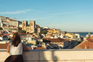 View from the Arco da Rua Augusta in Lisbon Portugal