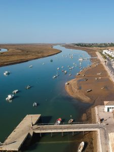 Ria Formosa in Algarve as seen from above
