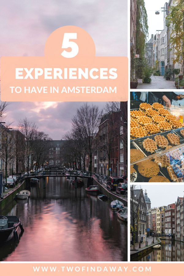 Amsterdam is one of Europe's most beloved cities, and there are many things to do. In this post you will find five original experiences you absolutely have to do in Amsterdam!