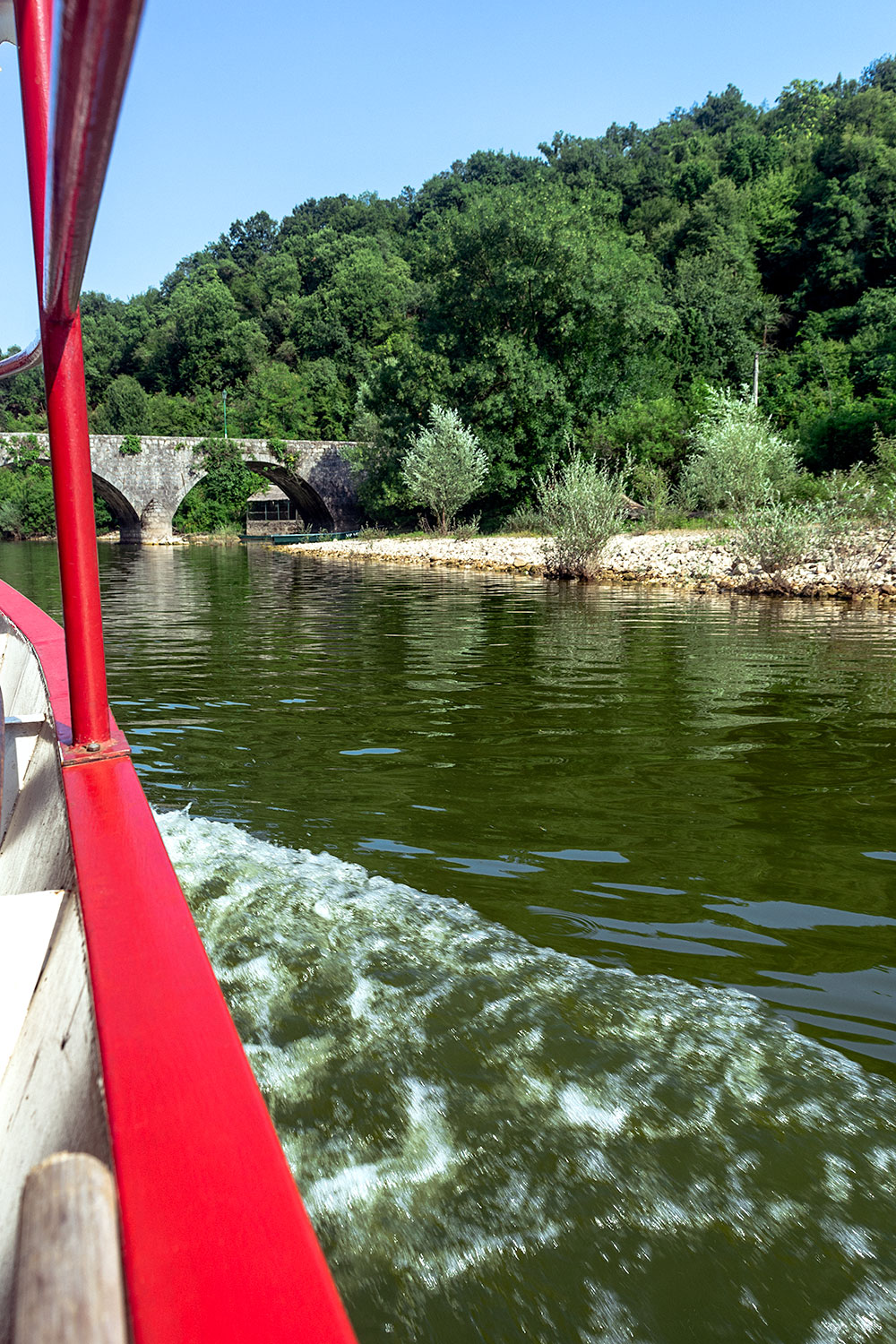 Cruising through the Crnojević river in Montenegro