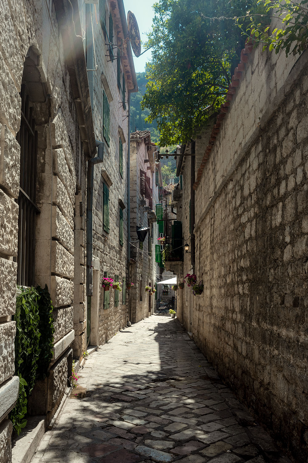 The streets of Kotor's Old Town seem to take you back in time