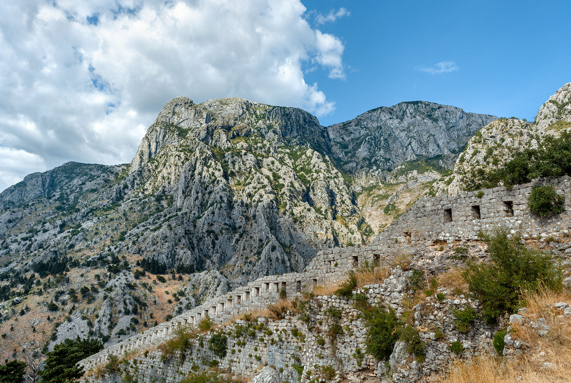 The Kotor City Walls are still well preserved and are one of the best places to take photos of Montenegro